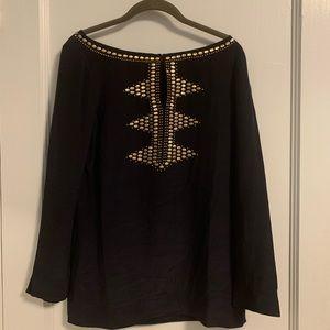 Tory Burch Samantha Embellished Silk Crepe Tunic